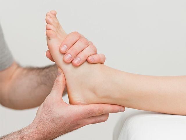 Осмотр ноги